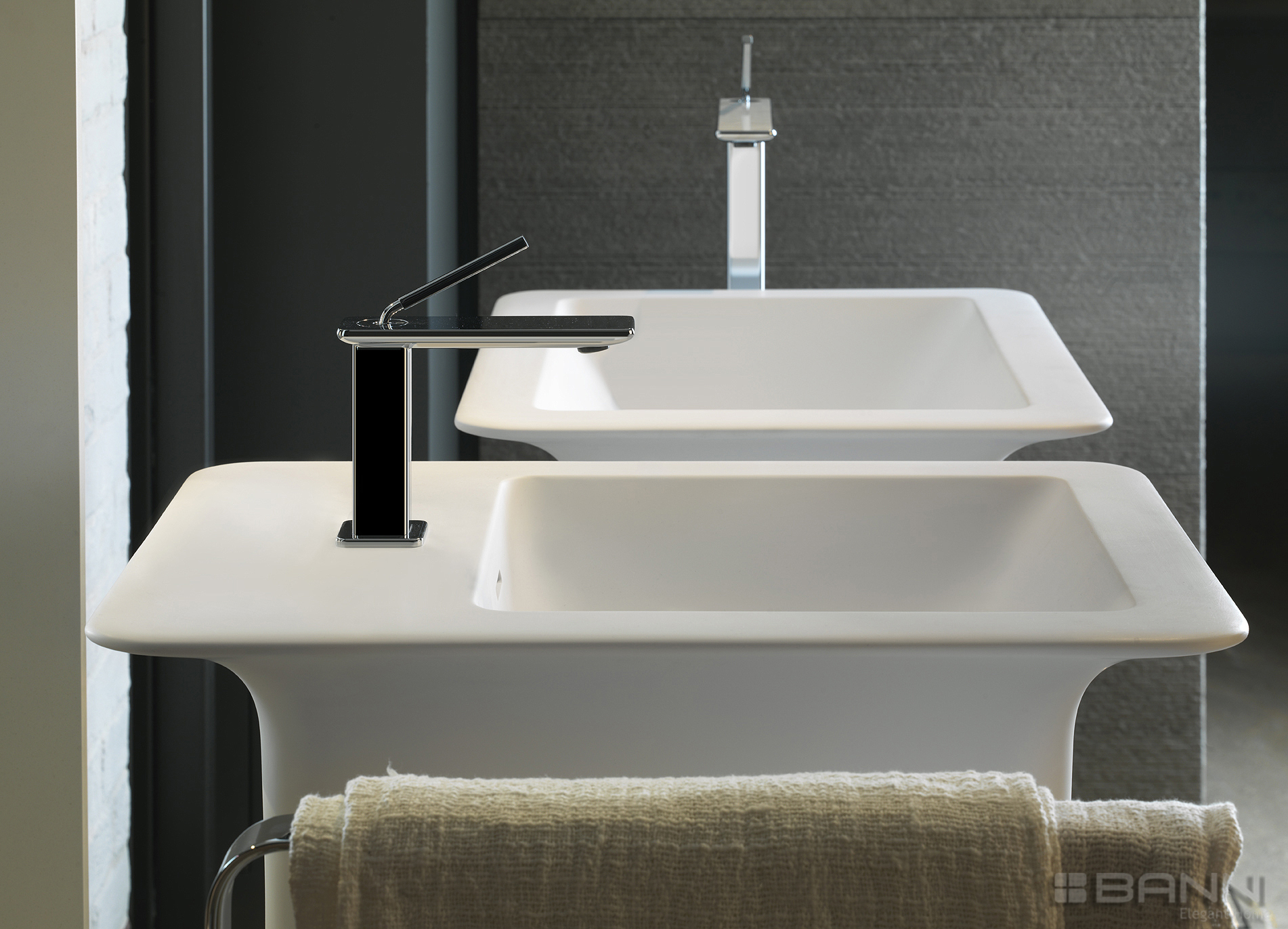 Lavabo doble moderno - ISPA BY GESSI