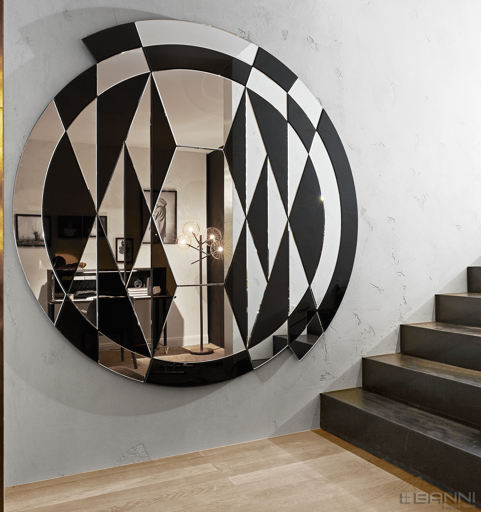 Espejo moderno de lujo - BLACK AND WHITE BY GALLOTTI
