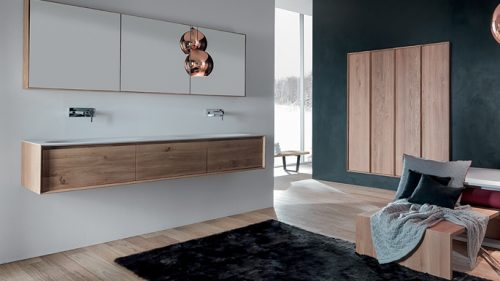 mueble de baño de madera natural exclusivo SHAPE EVO BY FALPER