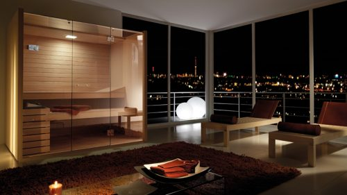 SPA y sauna doble de diseño de lujo para suite - SAUNA SKY NIGHT LIGHT BY EFFEGIBI